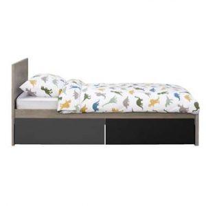 Bed Tempo incl. ladenset - grijs eikenkleur - 90x200 cm - Leen Bakker.jpg