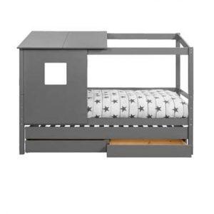 Bed Ties met bedverhoger en opzetdak - antraciet - 90x200 cm - Leen Bakker.jpg