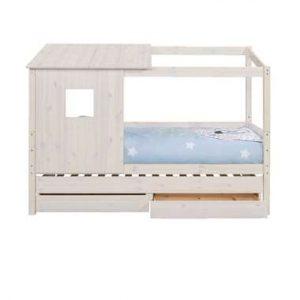 Bed Ties met bedverhoger en opzetdak - whitewash - 90x200 cm - Leen Bakker.jpg