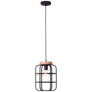 Brilliant hanglamp Gwen hout - zwart - Leen Bakker.jpg