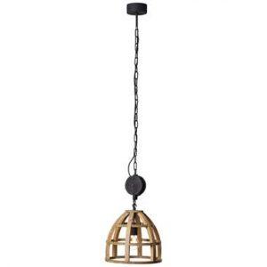 Brilliant hanglamp Matrix - hout - 34 cm - Leen Bakker.jpg