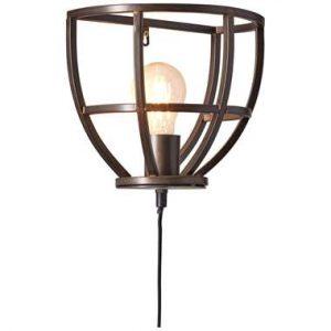 Brilliant wandlamp Matrix - zwart - E27 - Leen Bakker.jpg