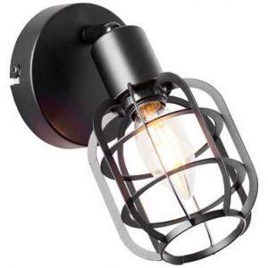 Brilliant wandlamp Spacid - zwart - Leen Bakker.jpg