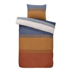 Comfort dekbedovertrek Bruce - blauw/cognac - 140x200/220 cm - Leen Bakker.jpg