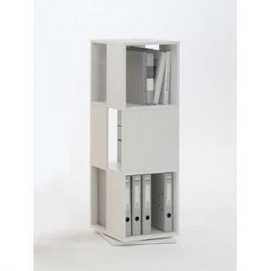 Kast draaibaar Tower - wit - 108x34x34 cm - Leen Bakker.jpg