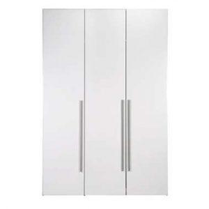 Kledingkast Bergen 3-deurs - wit - 219x147x59