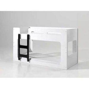 Vipack stapelbed Luca - wit/zwart - 210x90